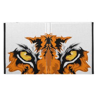 El tigre observa el folio de IPad