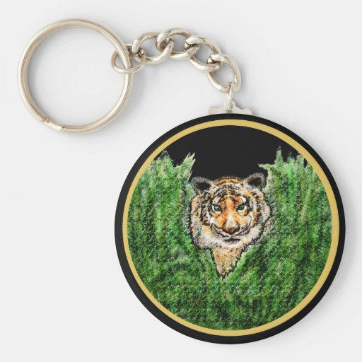 El tigre observa el llavero