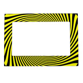 El tigre raya amarillo y negro marcos magnéticos de fotos
