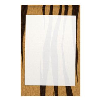 El tigre raya el modelo papelería de diseño