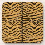 El tigre raya el modelo posavasos de bebidas