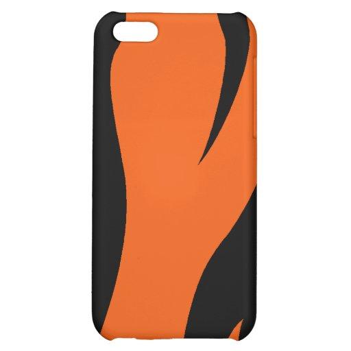 El tigre raya la caja del iPhone