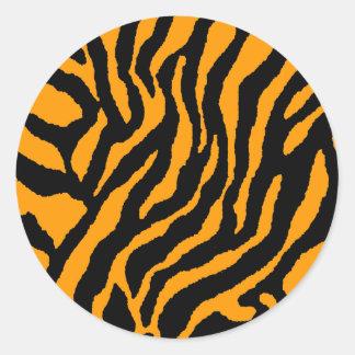 El TIGRE RETRO de los años 80 del TIGRE de COREY Pegatina Redonda