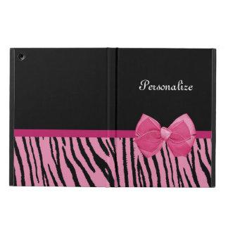 El tigre rosado y negro lindo raya la cinta femeni