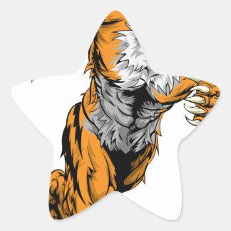El tigre se divierte el funcionamiento de la colcomanias forma de estrellas