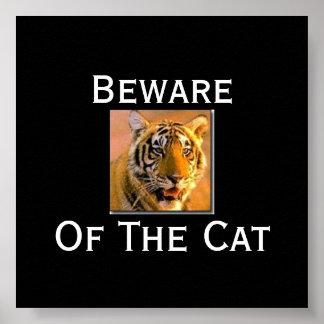 el tigre se guarda del gato - Cus… - Modificado p Poster