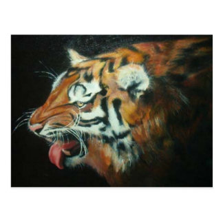 El tigre sonriente tarjeta postal