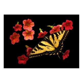 El tigre Swallowtail en rojo florece el ATC Tarjetas De Visita Grandes