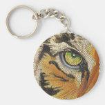"""El """"tigre teja"""" la acuarela del mosaico de la cara llavero"""