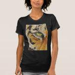 """El """"tigre teja"""" la acuarela del mosaico de la cara camiseta"""
