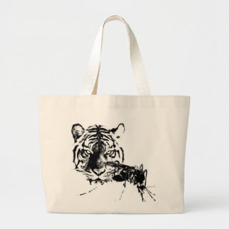 el tigre & the mosquito large tote bag