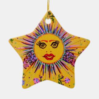 El Tiley sonriente original Adorno Navideño De Cerámica En Forma De Estrella