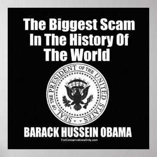El timo más grande de Obama- en la historia del mu Póster
