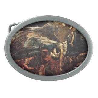 El Tintoretto-St marca el rescate sarraceno de nau Hebillas Cinturon