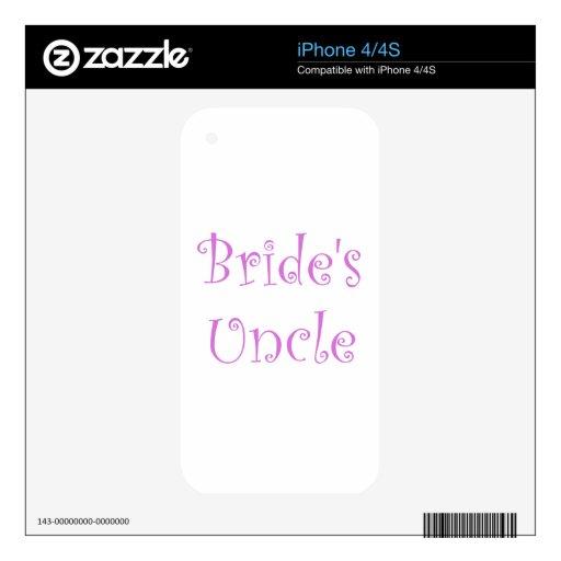 El tío de la novia calcomanías para iPhone 4