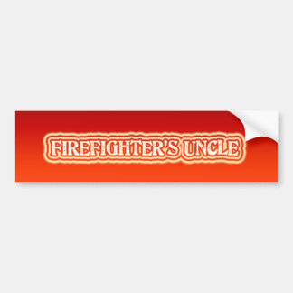 El tío del bombero etiqueta de parachoque