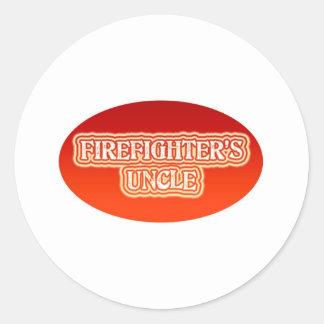El tío del bombero etiquetas redondas