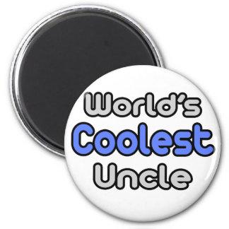 El tío más fresco del mundo imán redondo 5 cm