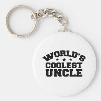 El tío más fresco del mundo llavero redondo tipo pin