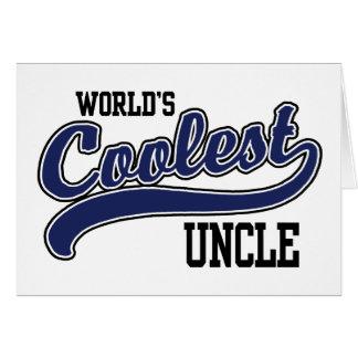 El tío más fresco del mundo tarjeta de felicitación