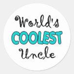 El tío más fresco Stickers del mundo Pegatinas Redondas