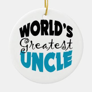 El tío más grande Christmas Ornament de los mundos Adorno Redondo De Cerámica