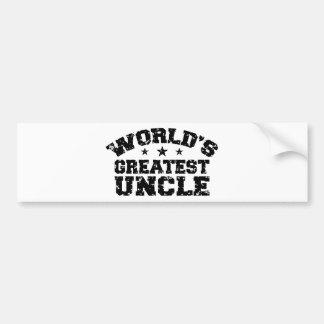 El tío más grande del mundo etiqueta de parachoque