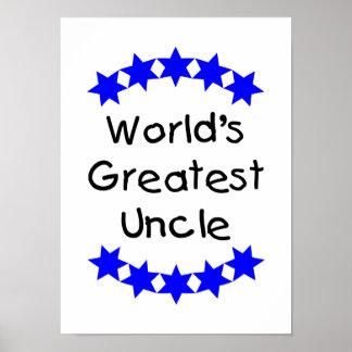 El tío más grande del mundo (estrellas azules) posters