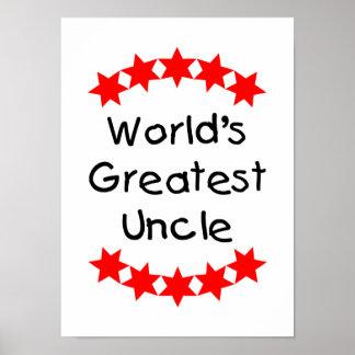 El tío más grande del mundo (estrellas del rojo) poster