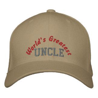 El tío más grande del mundo gorra de béisbol bordada