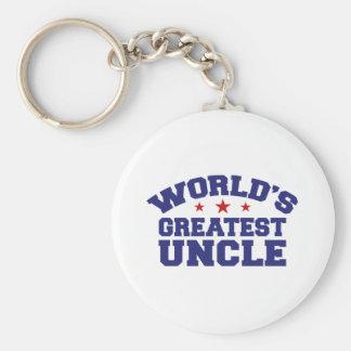 El tío más grande del mundo llavero redondo tipo pin