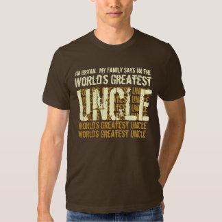El tío más grande del mundo mi familia dice V004 Camisas