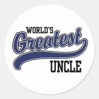 El tío más grande del mundo etiqueta redonda