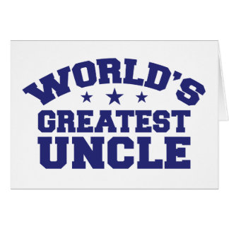 El tío más grande del mundo tarjeta de felicitación