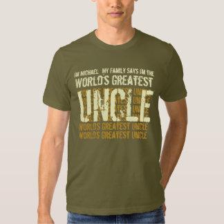 El tío más grande Gift Idea de los mundos para él Remera
