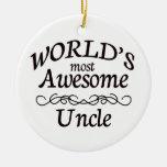 El tío más impresionante del mundo ornaments para arbol de navidad