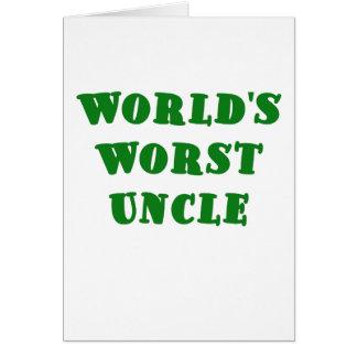 El tío peor de los mundos tarjeta de felicitación