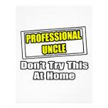 El tío profesional… no intenta esto en casa membrete personalizado