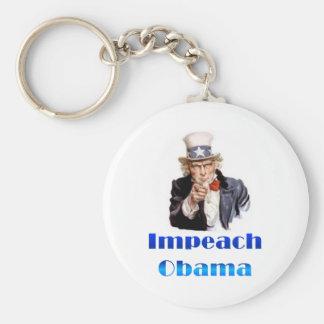 El tío Sam acusa a Obama Llavero Redondo Tipo Pin