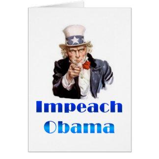El tío Sam acusa a Obama Tarjeta De Felicitación