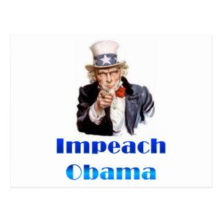 El tío Sam acusa a Obama Tarjeta Postal
