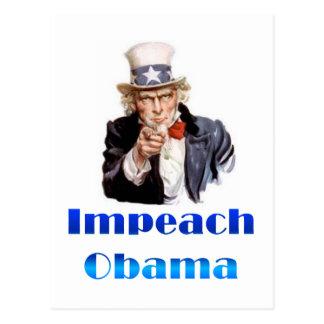 El tío Sam acusa a Obama Tarjetas Postales