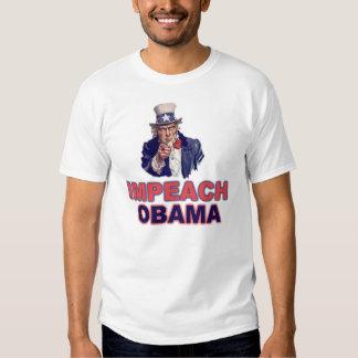 El tío Sam dice: Acuse a Obama Playeras