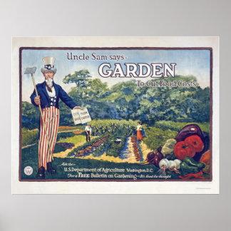 El tío Sam dice - cultive un huerto para cortar co Impresiones