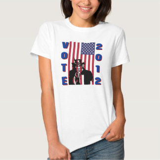 El tío Sam dice la camisa 2012 del voto