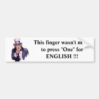 el tío Sam este dedo no fue hecho para presionar… Pegatina De Parachoque