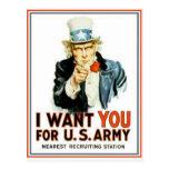 El tío Sam I le quiere ejército Tarjeta Postal
