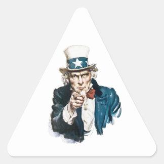 El tío Sam I quisiera que usted modificara para Calcomanías Triangulos Personalizadas