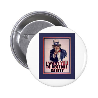 El tío Sam I quisiera que usted restaurara las cam Pin Redondo 5 Cm