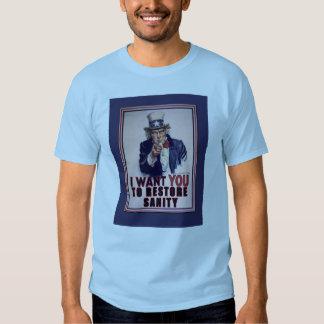 El tío Sam I quisiera que usted restaurara las Camisas